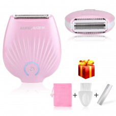 Ladies Shaver, kungfuren【2018 UPGRATED】 USB Rechargeable Waterproof Electric Shavers for Women Wet/Dry Use Hair Razor, Painless Razor for Women Body Hair Remover for Face Arm Underarms and...