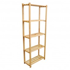 kungfuren Wooden shelf 5-shelves-170x80x38 basement shelf bookcase storage shelf B-24