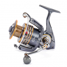 kungfuren Fishing Reels Stainless Steel Spinning Reel Strong Corrosion Resistance Metal Saltwater Fishing Reel