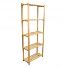 kungfuren Wooden shelf 5-shelves-170x80x38 basement shelf bookcase storage shelf B-24