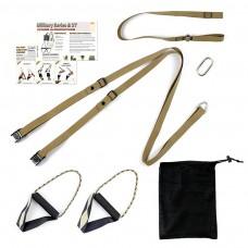 kungfuren Military Strap Loop Trainer, Brown, with integrated door anchor