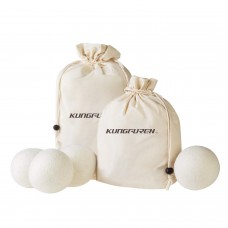 kungfuren dryer tumble balls for gentle down care, reduces power consumption and at the same time ecological softener, also ideal gift idea for baby clothes or diapers made of fabric,  set of 4