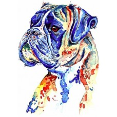 "kungfuren Boxer Dog Art Painting, Artwork Prints Gifts Stocking Filler - [A4 Print Only, 8 x 12""] - Mounting & Size Options Available"