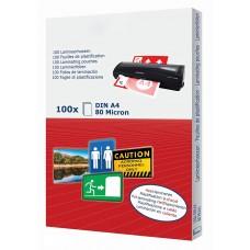 kungfuren pochettes de plastification A4-80 microns - Transparant - Pack de 100