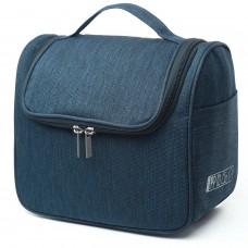 kungfuren Toiletry Bag, Travel Bag, Cosmetic Bag, Wash Bag, Waterproof, Polyester, Shave Bag, Hanging Up, For Women & Men (Blue)