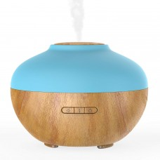 kungfuren Aromatherapy Diffuser for Essential Oils, Electric Aroma Humidifier for Bedroom, Office, Baby Room, Ultrasonic, Adjustable Cool Mist, 300ml, 7 Color LED, Beautiful Wood Grain, Whisper Quiet, Creates a Calming, Relaxing Environment. [Energy Class