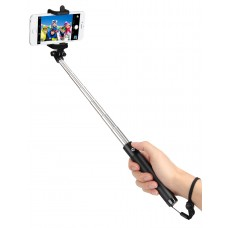 kungfuren Selfie Stick with Japan Seiko PCB Protection and 50-Hour Battery Life for Smartphones BLACK
