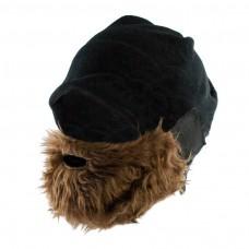 kungfuren Gray fleece hat with detachable beard