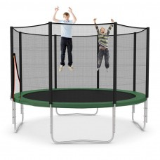 kungfuren Garden trampoline complete set with reinforced mesh Safety net with 8 padded poles Load capacity 160kg