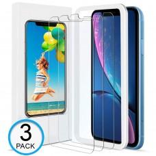 kungfuren Verre Trempé iPhone XR [Lot de 3] Film Protection Écran iPhone XR [Easy-Installation Kit] Vitre HD de dureté 9H Screen Protector pour Apple iPhone XR 6.1''